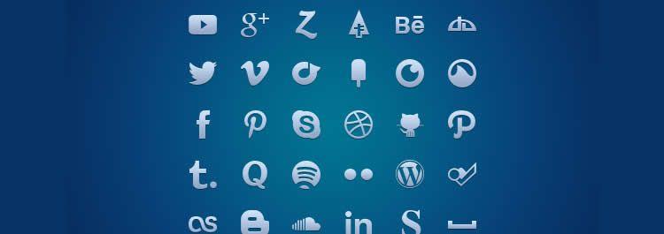 glyph webfont social free icons media
