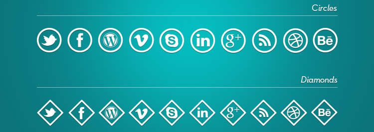 webfont social media icon sets