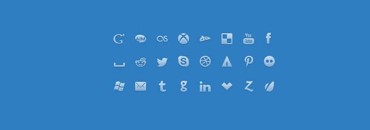 network glyph pictogram social media icon sets