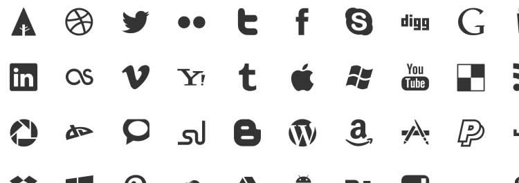 Picons glyph pictogram social free icons media