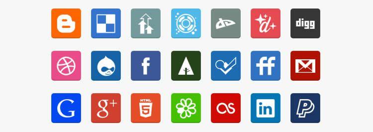flat social media icon sets