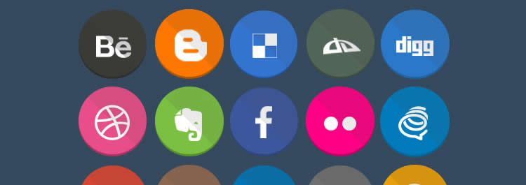 geekly flat social free icons media