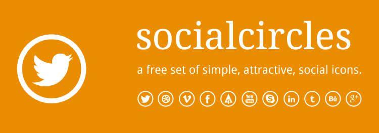 Socialcircles minimal social free icons media