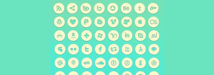 minimal social free icons media