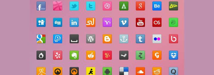 sweet social free icons media