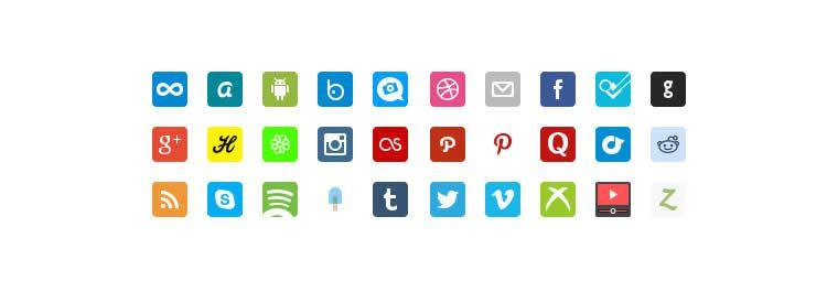 retina social free icons media