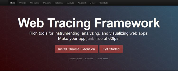 Web Tracing Framework Rich tools for instrumenting, analyzing, and visualizing web apps