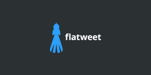 flatweet flat logo inspiration example