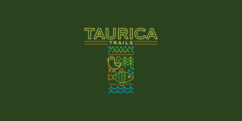 taurica trails flat logo inspiration example