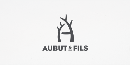 aubut and fils flat logo inspiration example