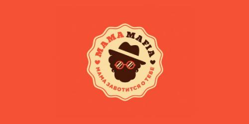 mama mafia flat logo inspiration example