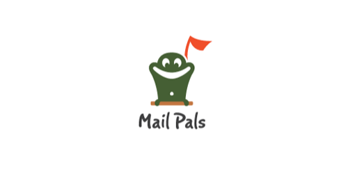 mail pals flat logo inspiration example