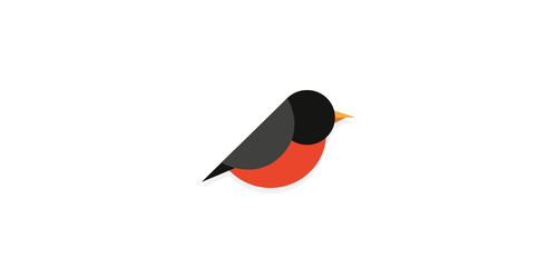 bird flat logo inspiration example