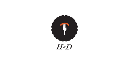 h and d flat logo inspiration example