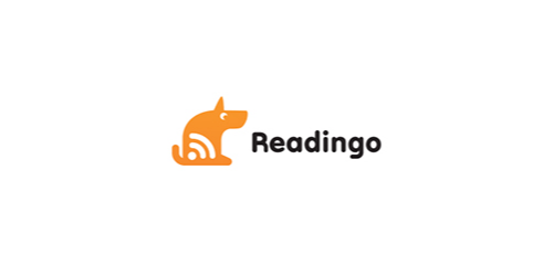 readingo flat logo inspiration example