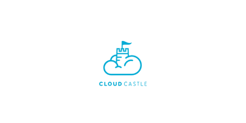 cloud castle flat logo inspiration example