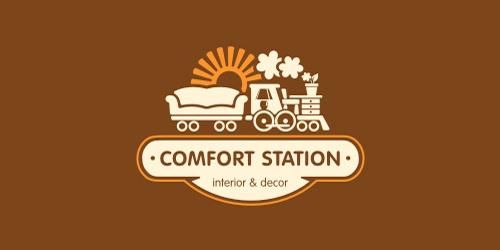 Comfort Station flat logo inspiration example