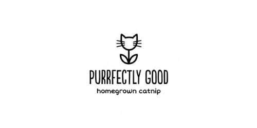 purrfectly good flat logo inspiration example