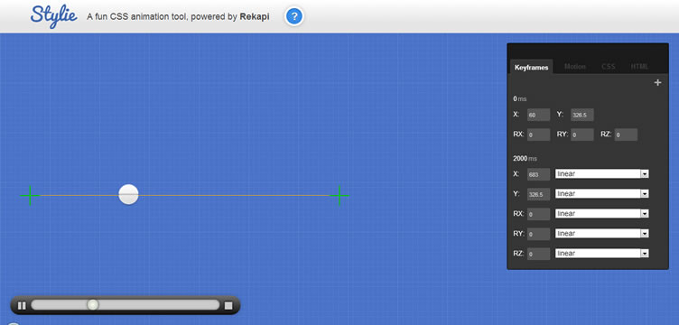 Stylie web-based CSS animation tool