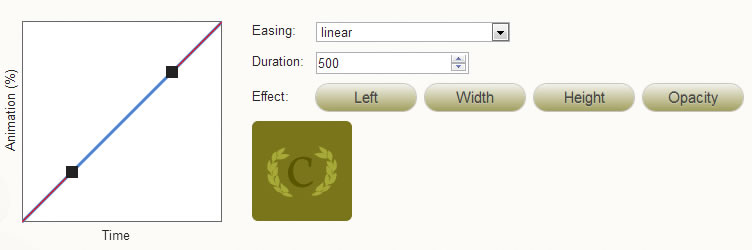 Ceaser is a simple CSS easing animation tool