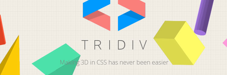 Tridiv is a web-based editor that lets you create 3D shapes in CSS