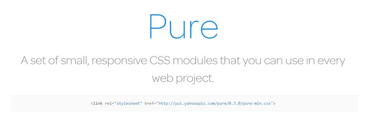 Pure CSS responsive UI kit top 50 css tools resources 2013