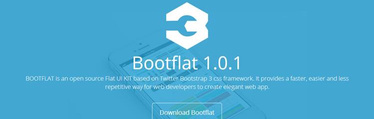 Bootflat CSS responsive UI kit top 50 css tools resources 2013