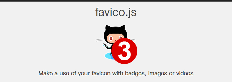 favico.js javascript for animating and Make a Use of Your Favicon