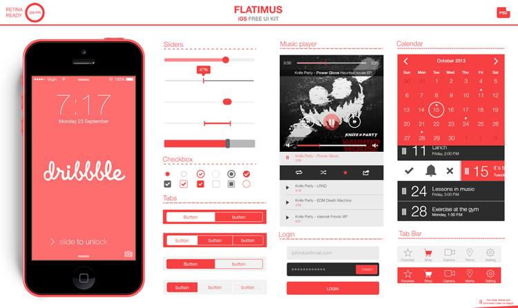 Flatimus UI Free Flat UI Template