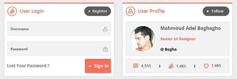 Flatty UI kit Free Flat UI Template widget tabs details