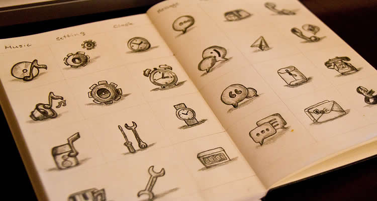 18 inspiring examples of sketching in icon design