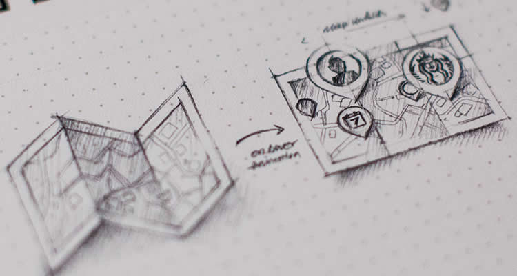 Map on Hover design icon pencil