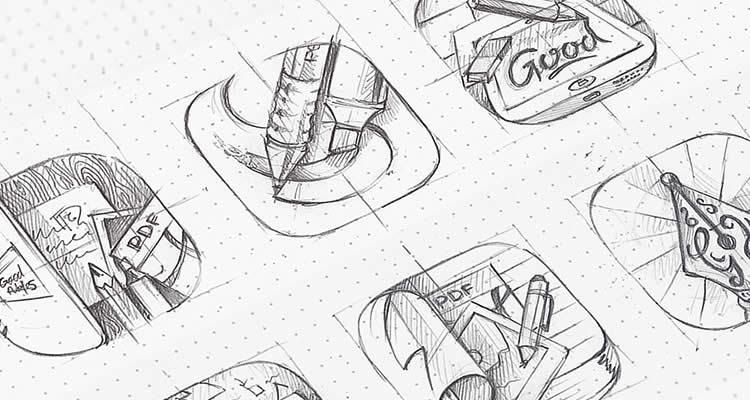 GoodNotes design icon pencil