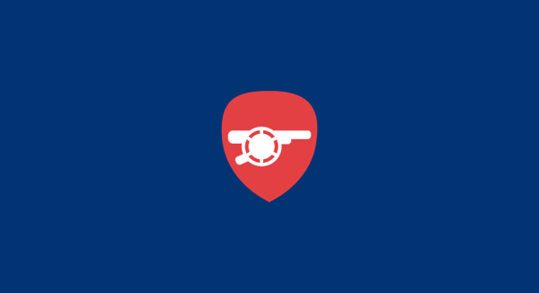 Arsenal F.C. minimal flat football soccer logos badges