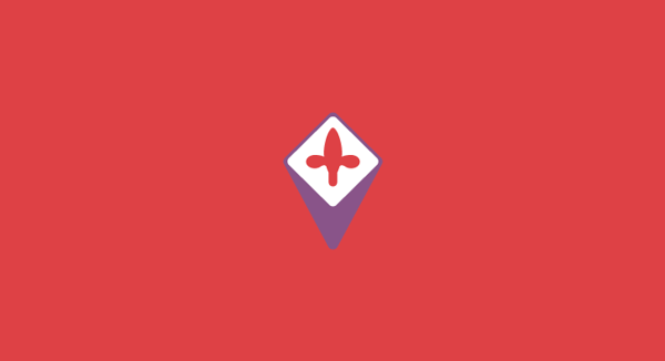 Fiorentina minimal flat football soccer logos badges