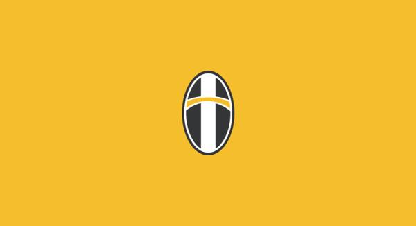 Juventus minimal flat football soccer logos badges