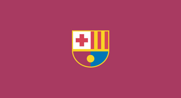 Barcelona minimal flat football soccer logos badges