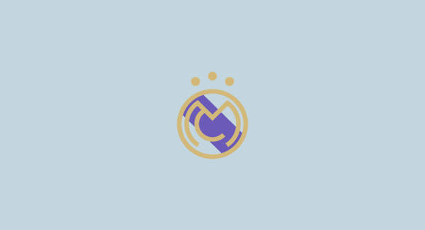 Real Madrid minimal flat football soccer logos badges