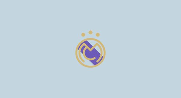 Real Madrid minimal flat football soccer logos badges