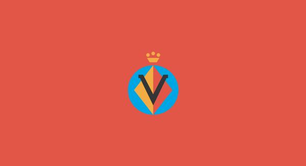 Villarreal minimal flat football soccer logos badges