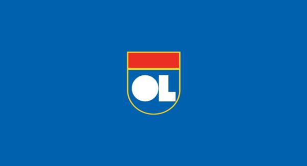 Olympique Lyonnais minimal flat football soccer logos badges