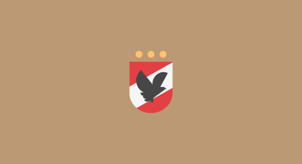 Al Ahly SC minimal flat football soccer logos badges