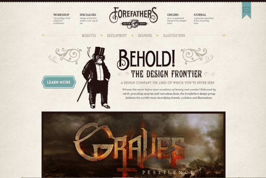 Forefathers Group mix typography match