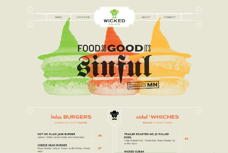 Wicked Palate mix typography match