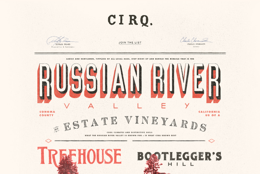CIRQ mix typography match