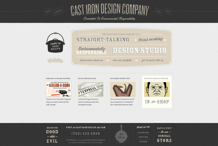Cast Iron Design Company mix typography match