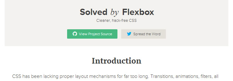 Solved By Flexbox - Cleaner, hack-free CSS top 50 css tools resources 2013