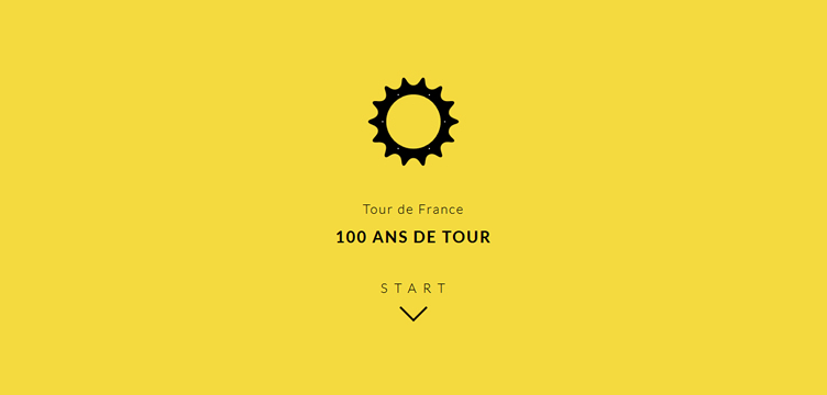 Le Tour de France animated css parallax scrolling