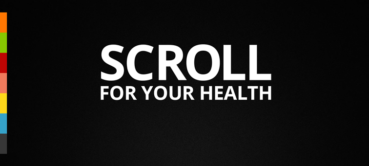Scroll For Your Health animated parallax css scrolling