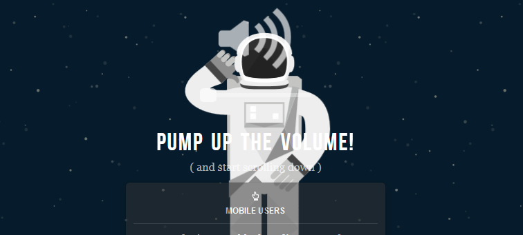 NASA: Prospect animated parallax css scrolling